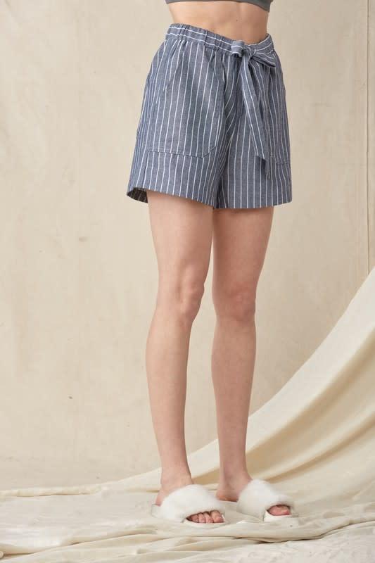 Leah Chambray Linen Shorts