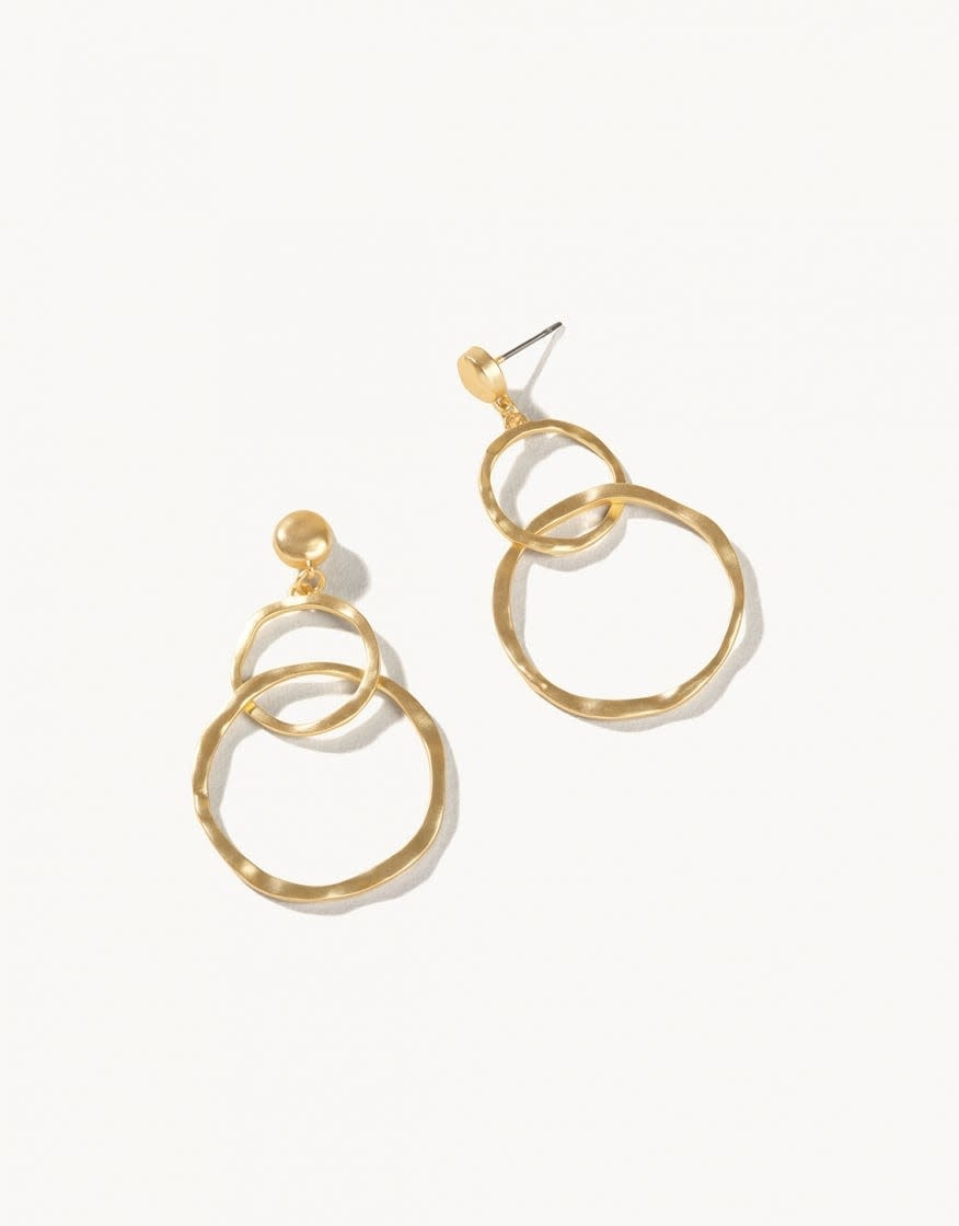 Ring Toss Gold Earring