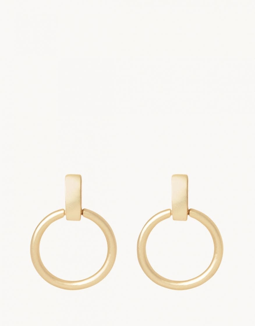 Simple Ring Gold Earring