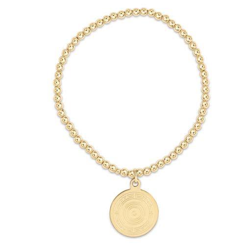 Classic Gold 3mm Bracelet: Athena Charm