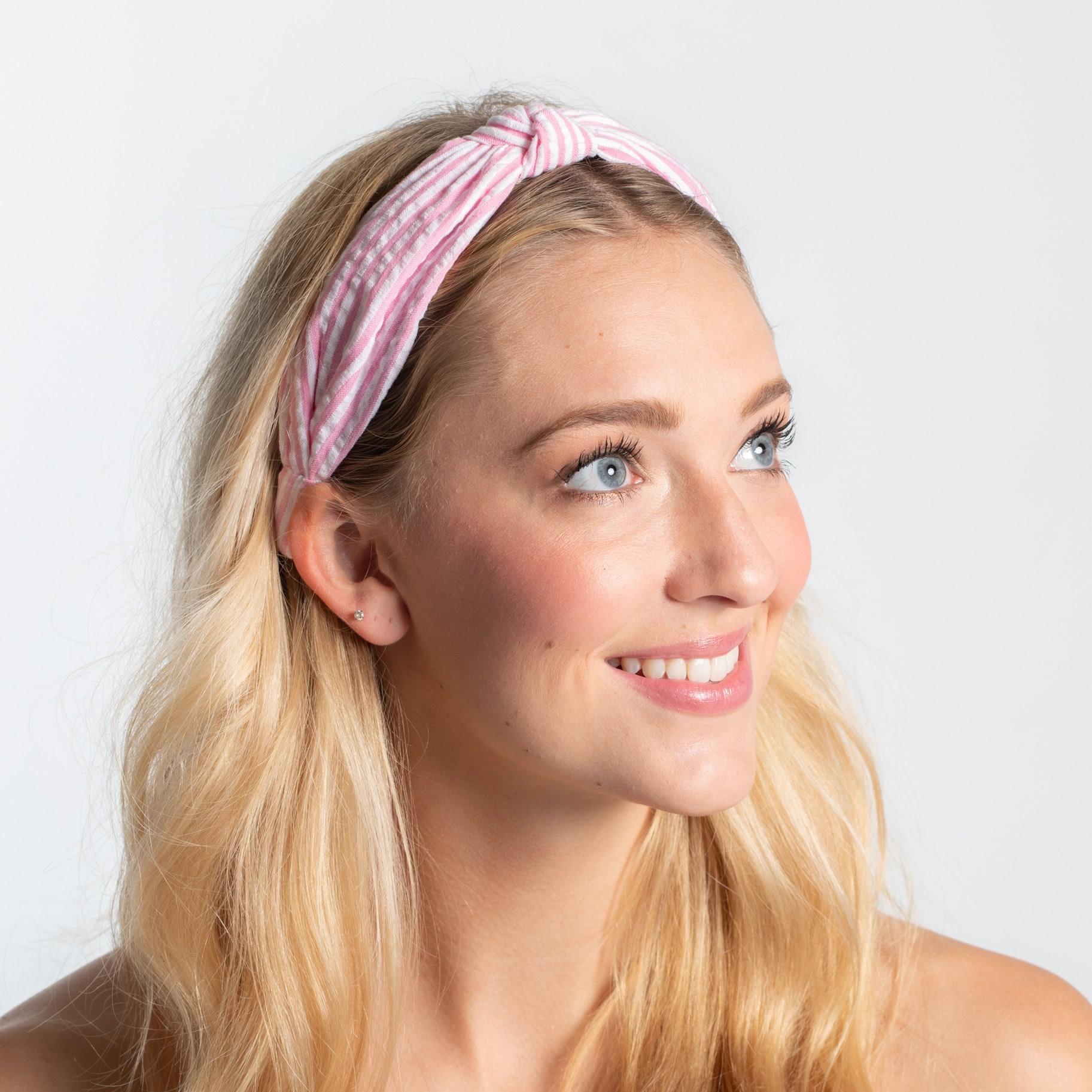 Pink Top Knot Headband