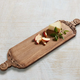 Hand Carved Long Wood Charcutier Board