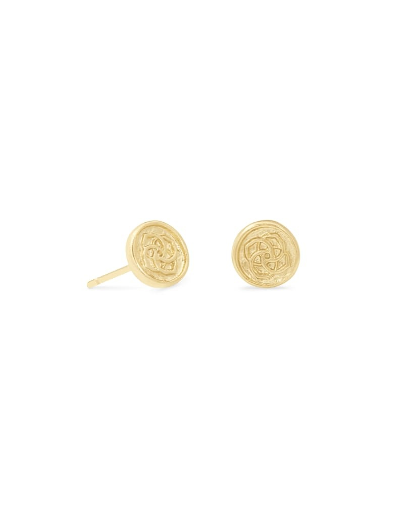Dira Coin Stud Earring in Gold