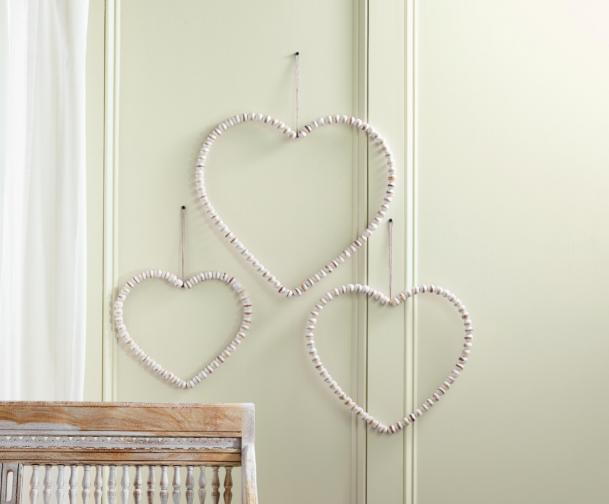 Medium Beaded Heart Door Hanger