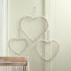 Large Beaded Heart Door Hanger