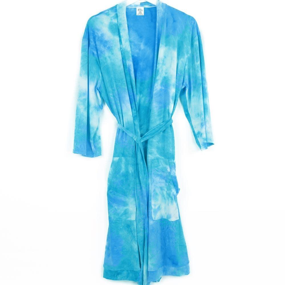 Hello Mello Hello Mello Robe Aqua Tie Dye