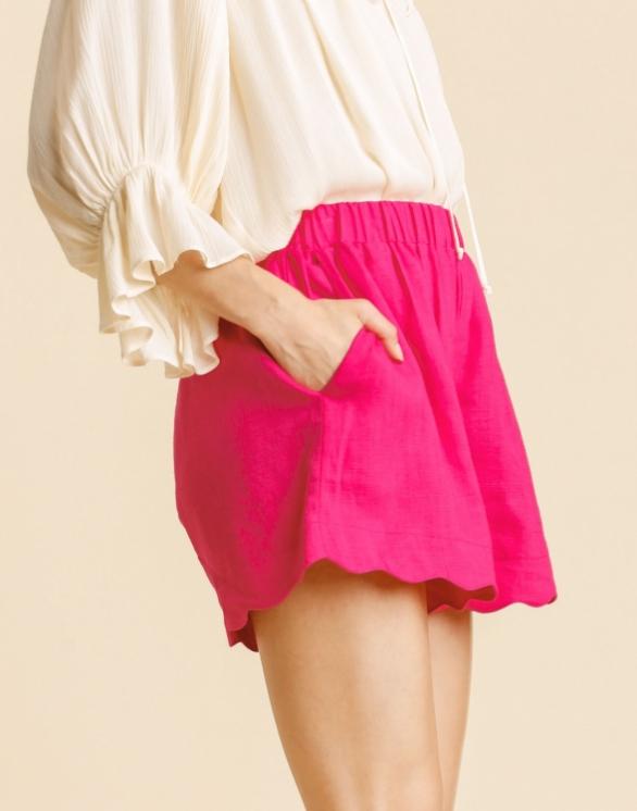 Layla Scallop Edge Shorts