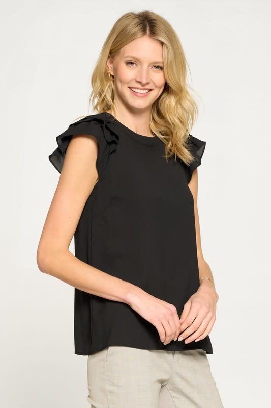 Tamera Ruffle Sleeve Blouse