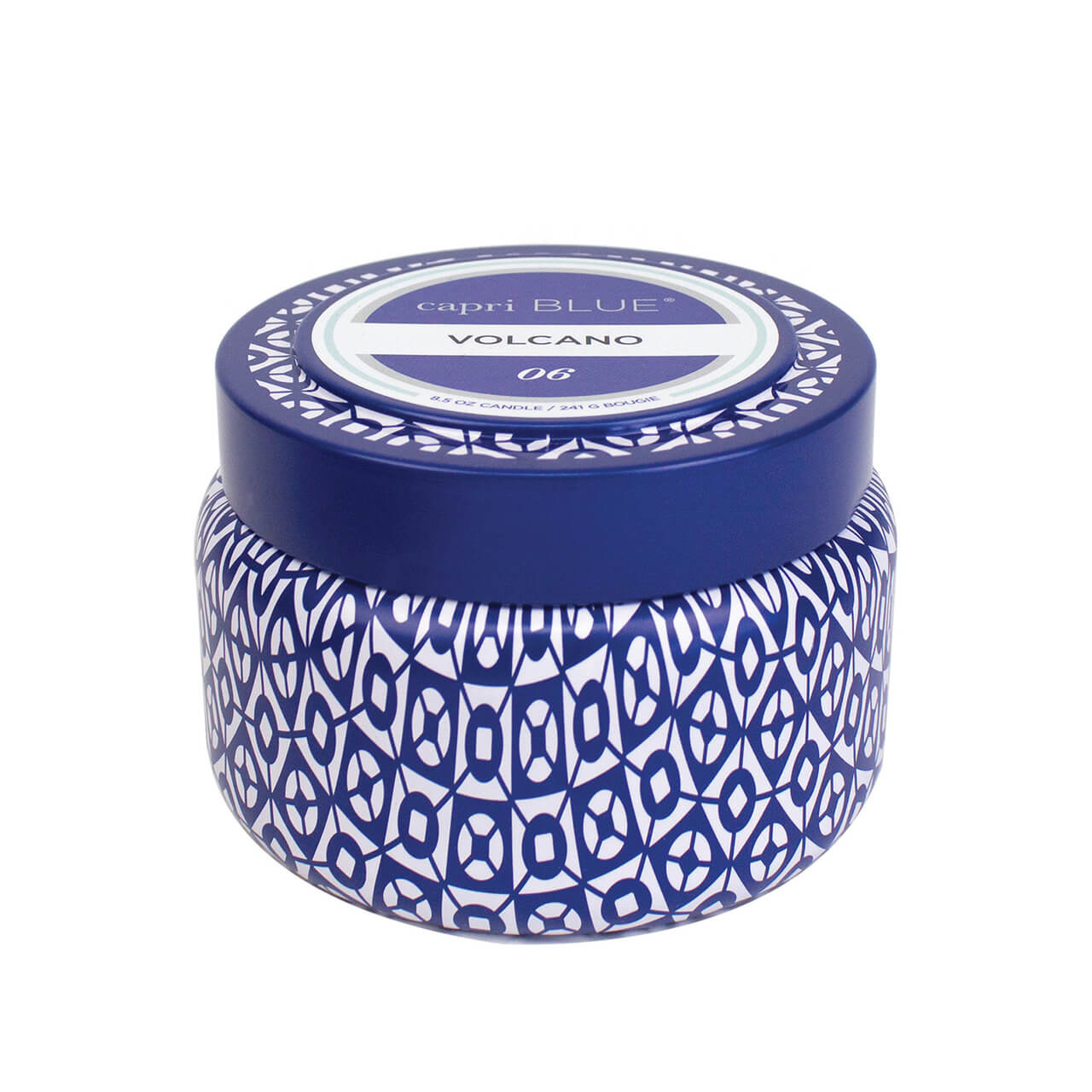 Volcano Blue Travel Tin Candle