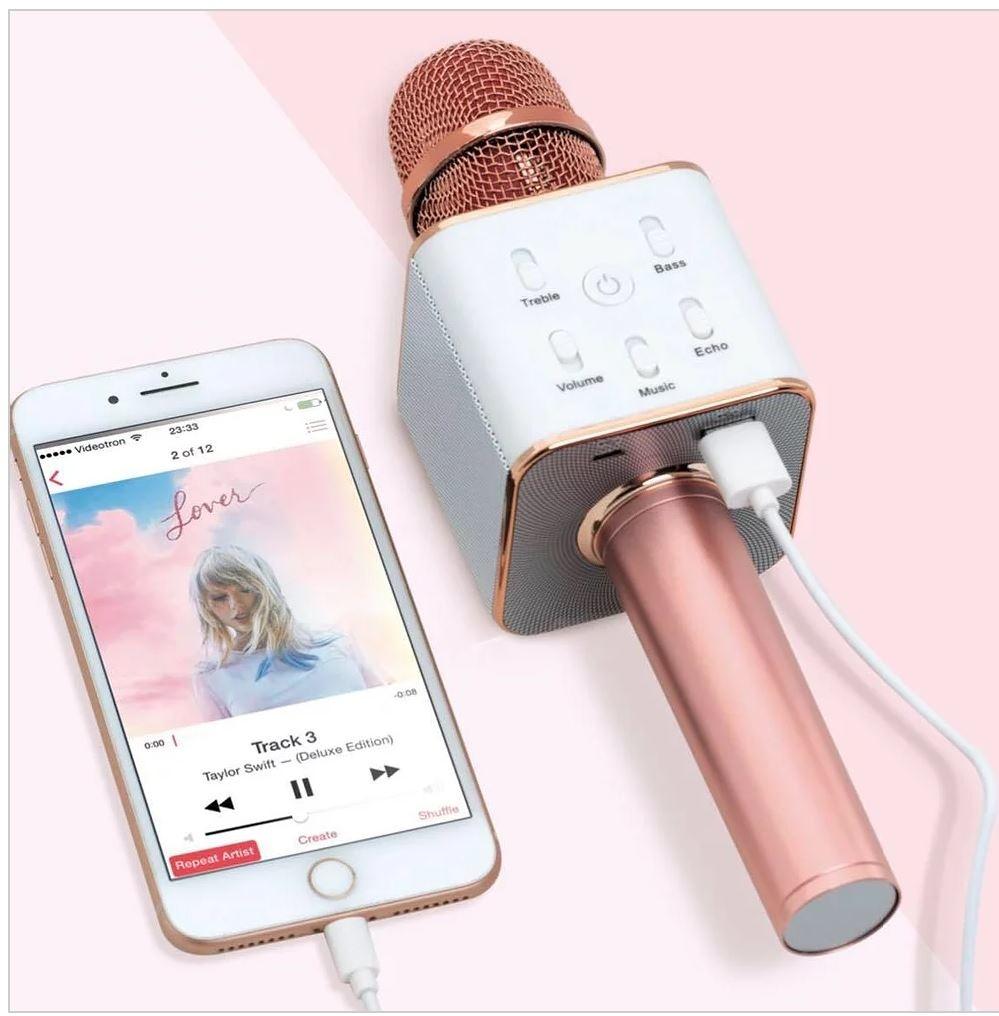 Karaoke Microphone, Rose Gold