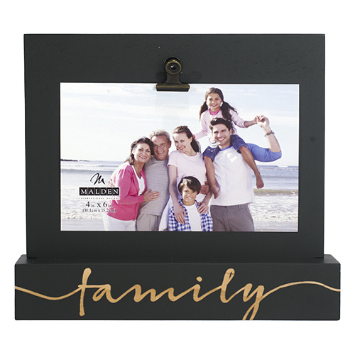 Family Wood Frame With Clip