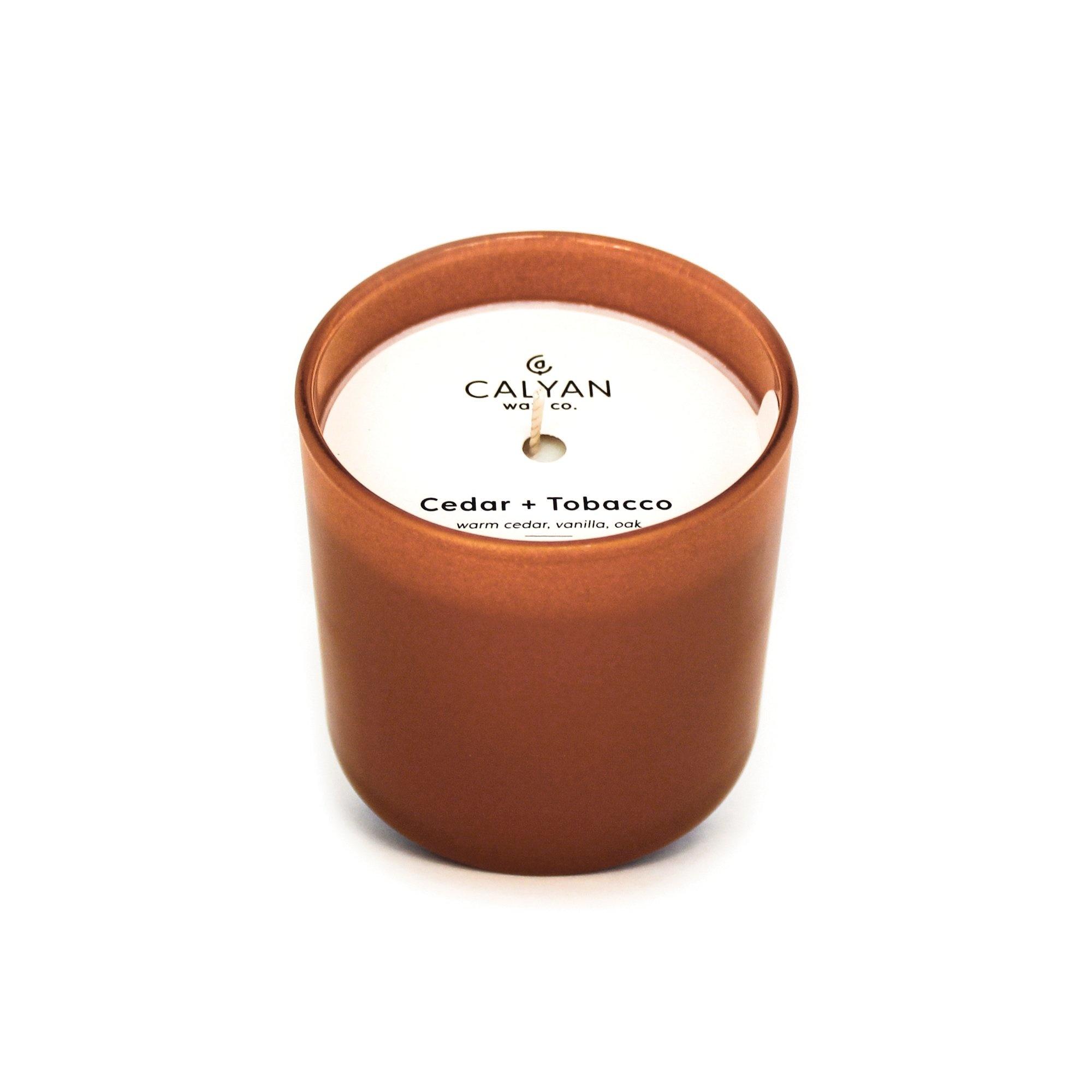 Cedar + Tobacco Dignity Series Soy Candle