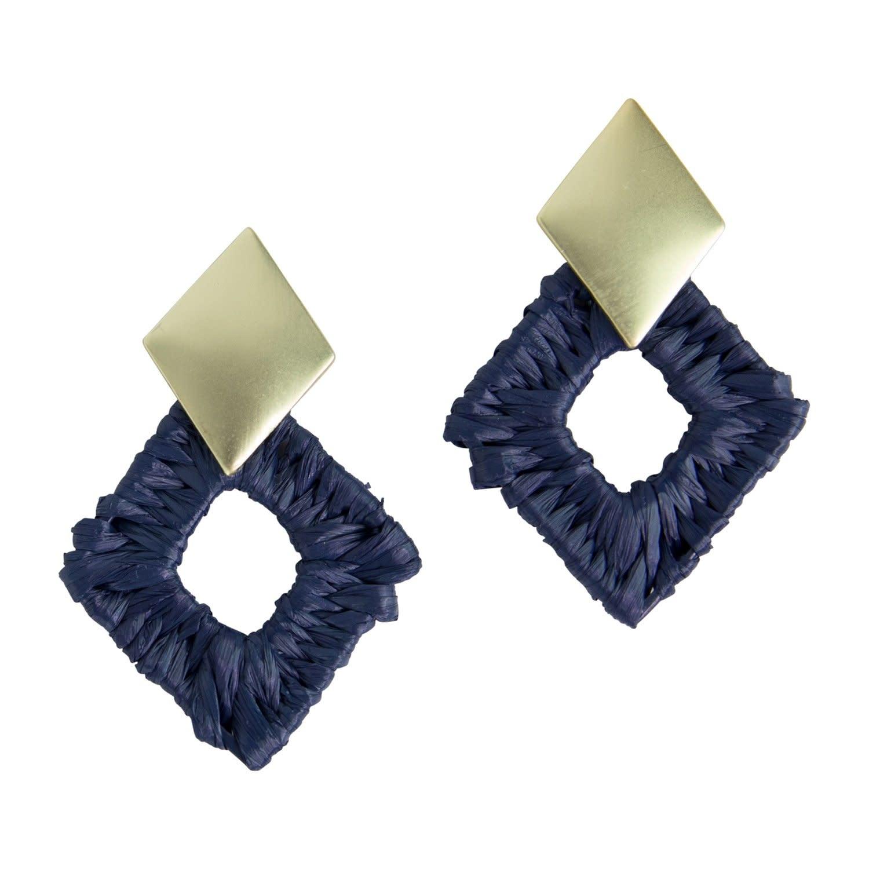 Acadia Navy Earrings