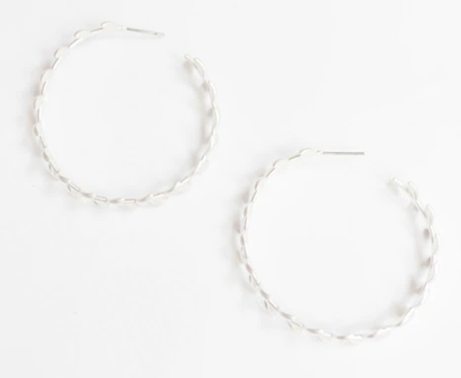 Silver Devon Earrings