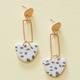 Neutral Terrazzo Billie Earrings