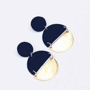 Navy Brexley Earrings