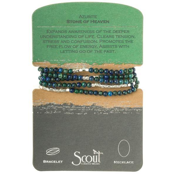 Stone Wrap Bracelet: Azurite