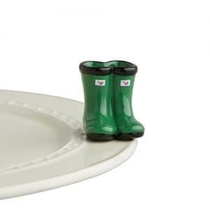 NF Mini: Green Rain Boots