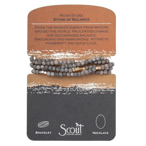 Stone Wrap Bracelet: River Stone