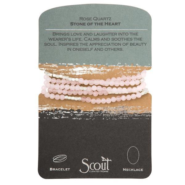 Stone Wrap Bracelet: Rose Quartz