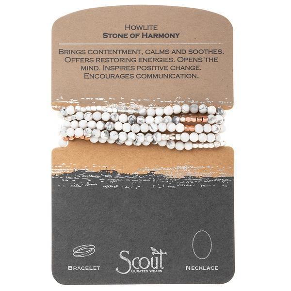 Stone Wrap Bracelet: Howlite