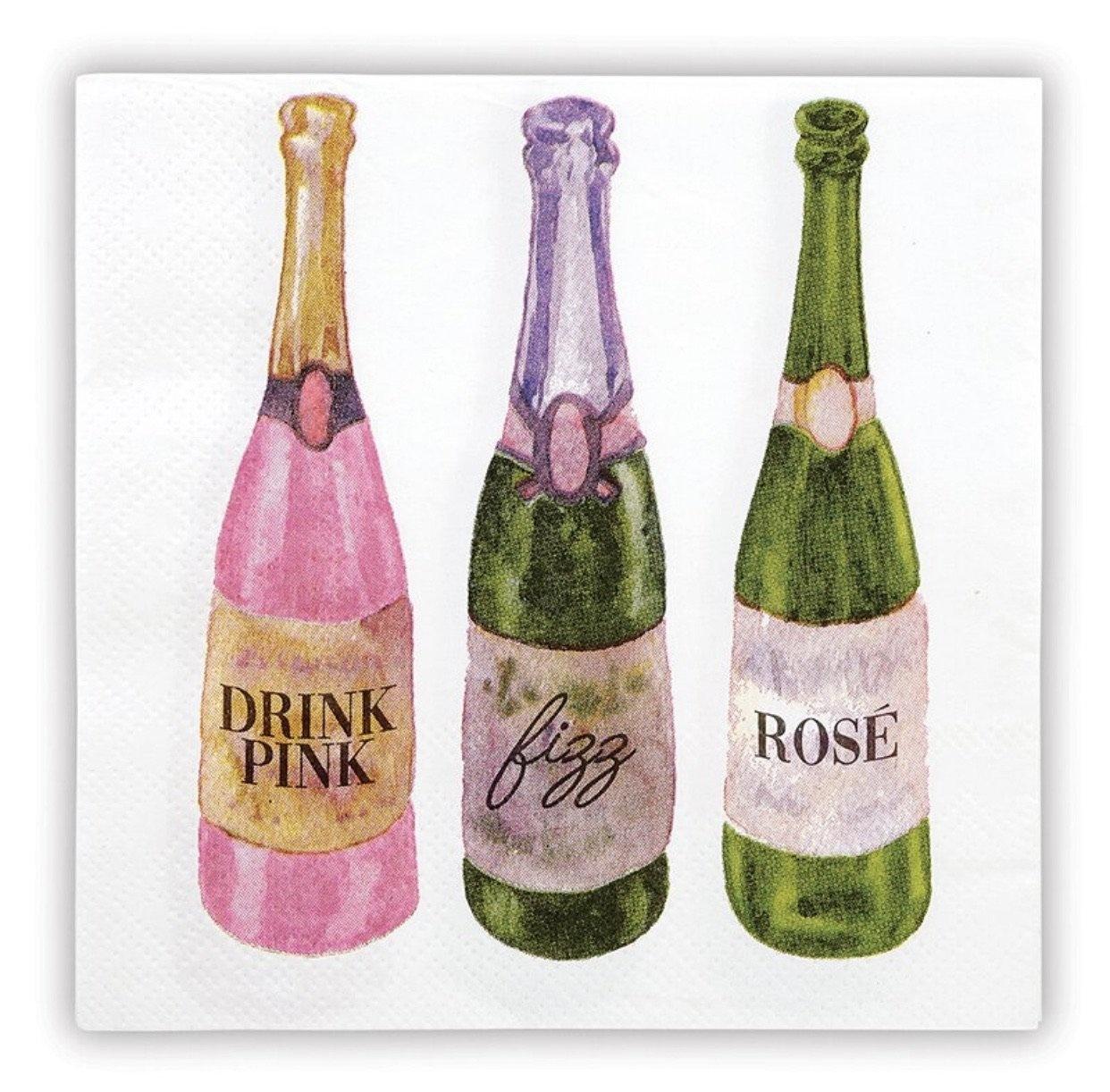Beverage Napkins: Drink, Fizz, Rose