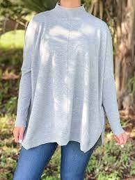 Gray Ellis Mock Sweater