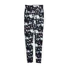 Black Tie Dye Ziggy Leggings, Medium