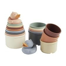 Blue Stacking Cups Set