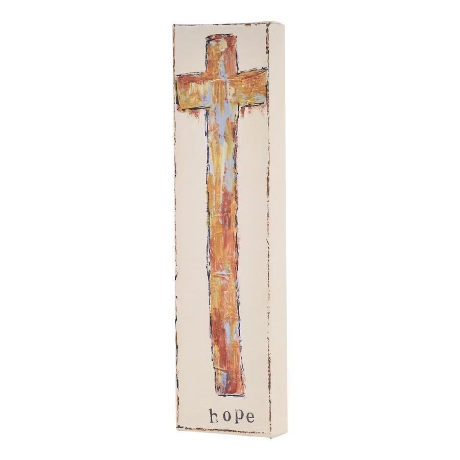 Hope Gold Cross Canvas