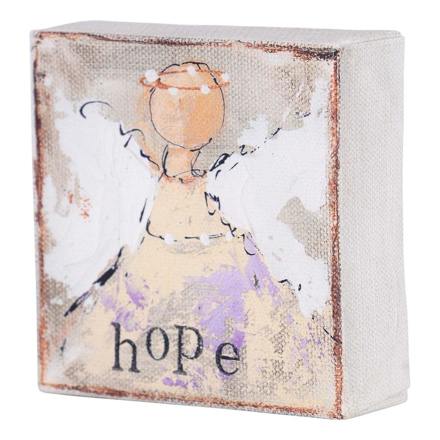 Hope Silver Angel Canvas