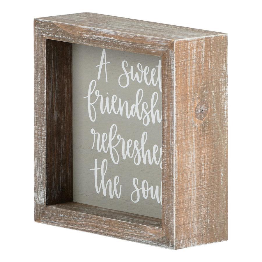 A Sweet Friendship Framed Board