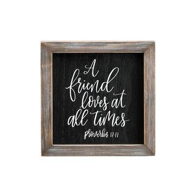 A Friend Loves Framed Board