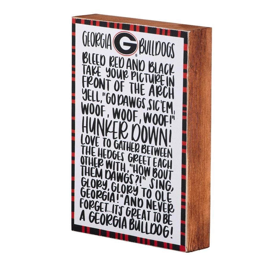 Georgia Fan Block Canvas