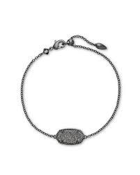 Elaina Slide Bracelet, Gunmetal Plat Drusy