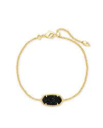 Elaina Slide Bracelet, Black Drusy