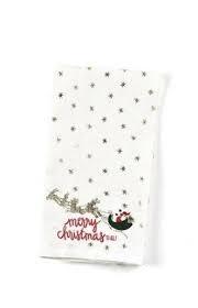 Happy Everything Christmas Village Santa Medium Hand Towel
