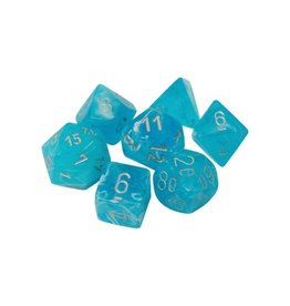 Dice Menagerie 10: Luminary Poly Sky/Silver (7)