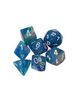 Dice Menagerie 10: Poly Festive Waterlily/White (7)