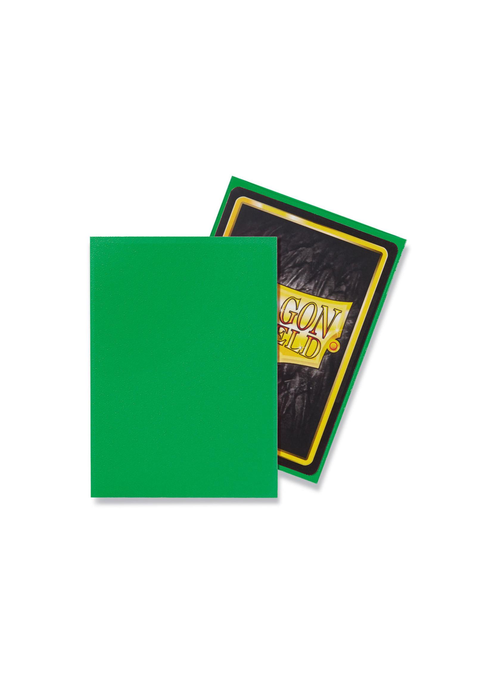 Dragon Shields: (100) Matte Apple Green