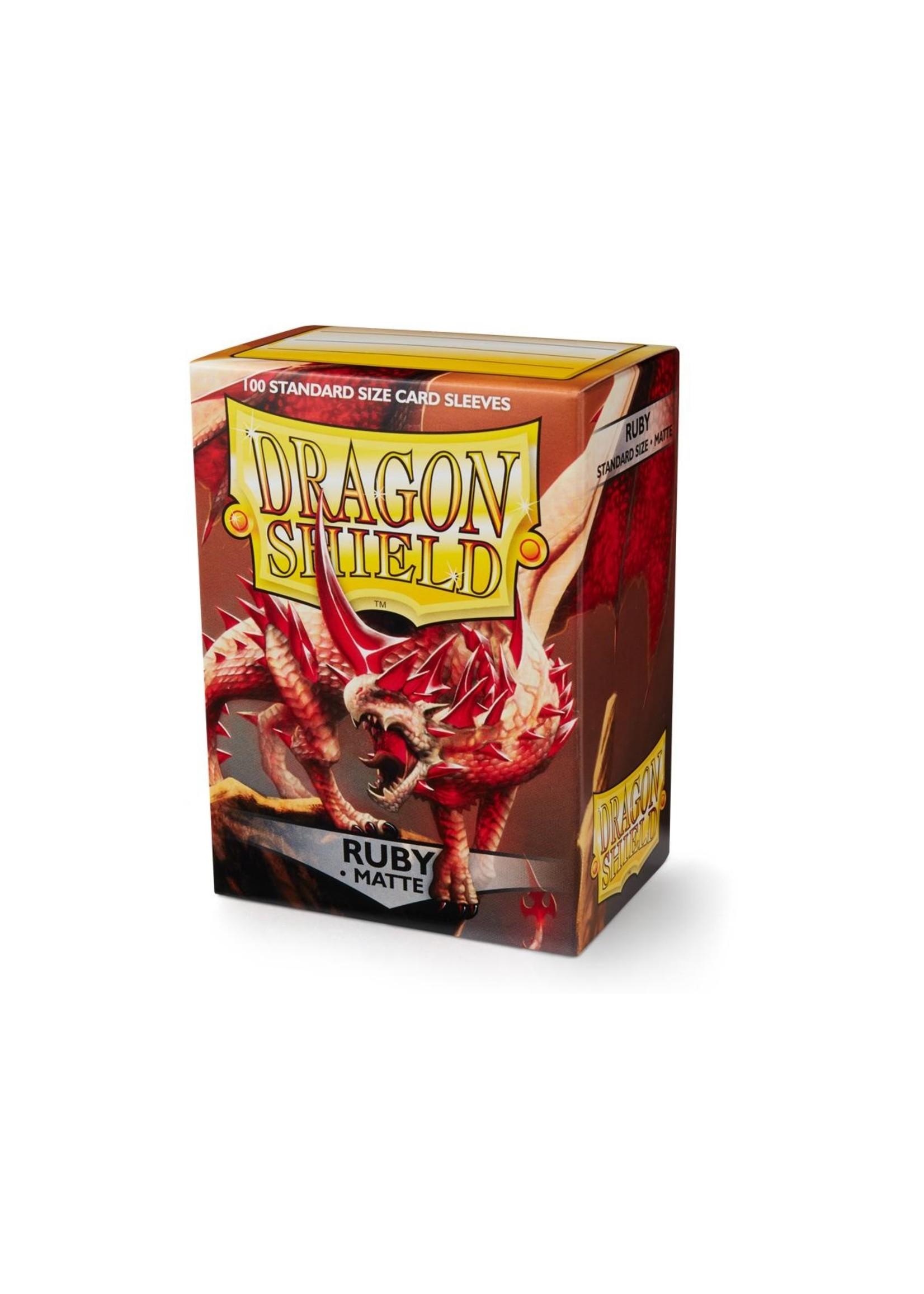Dragon Shields: (100) Matte Ruby