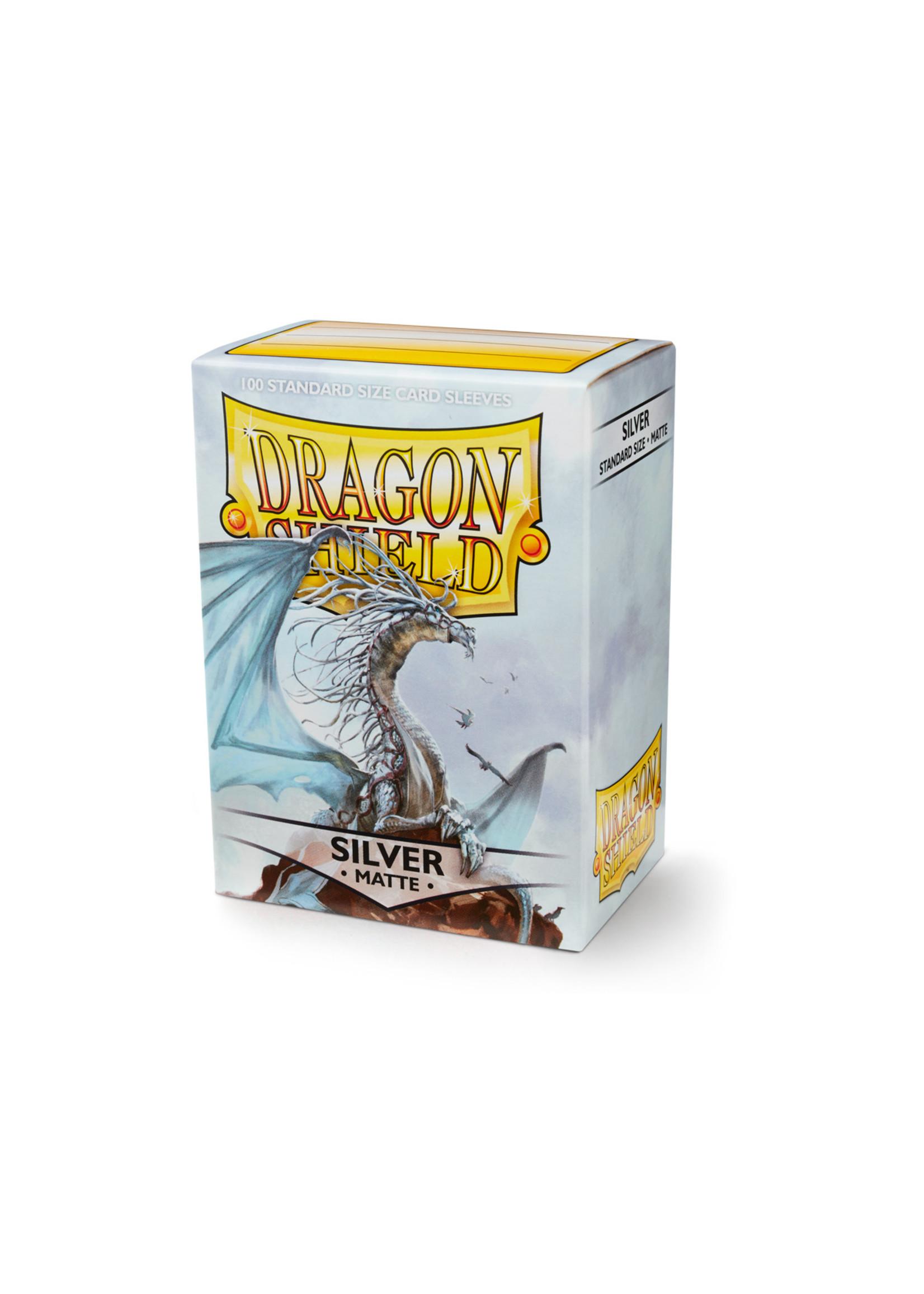Dragon Shields: (100) Matte Silver