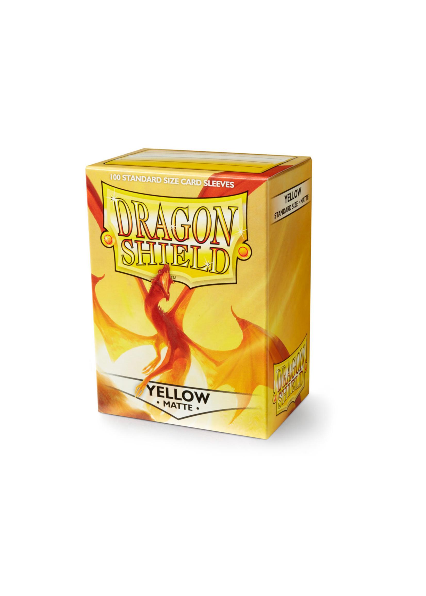 Dragon Shields: (100) Matte Yellow