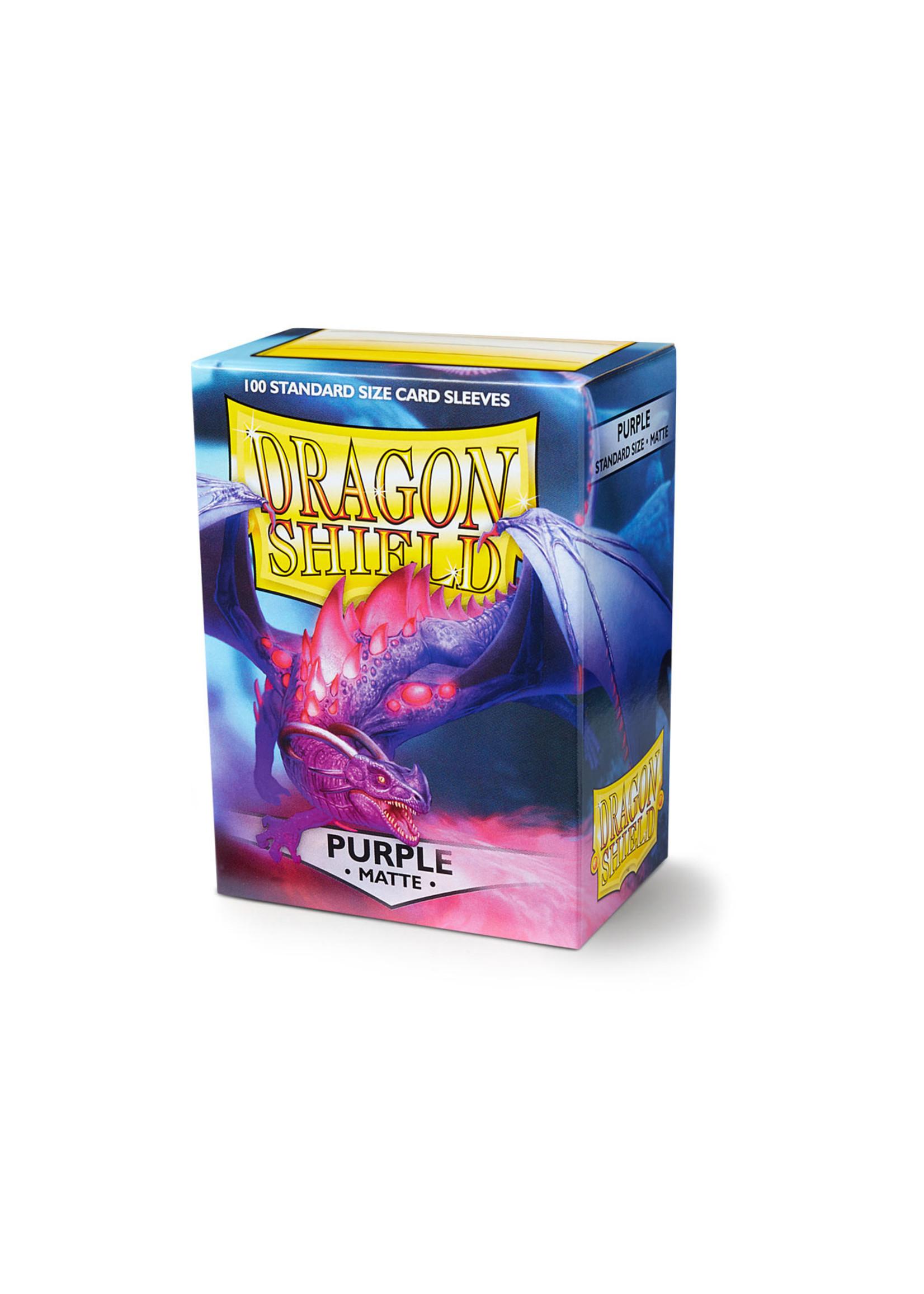 Dragon Shields: (100) Matte Purple