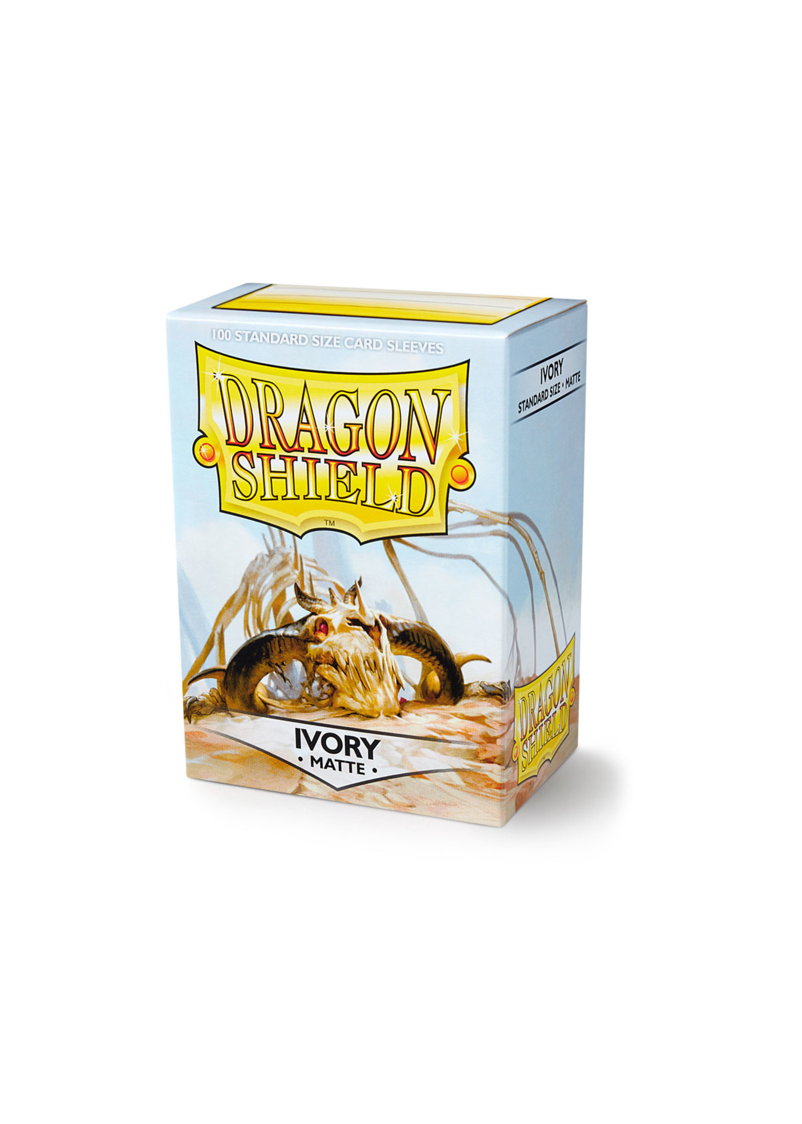 Dragon Shields: (100) Matte Ivory