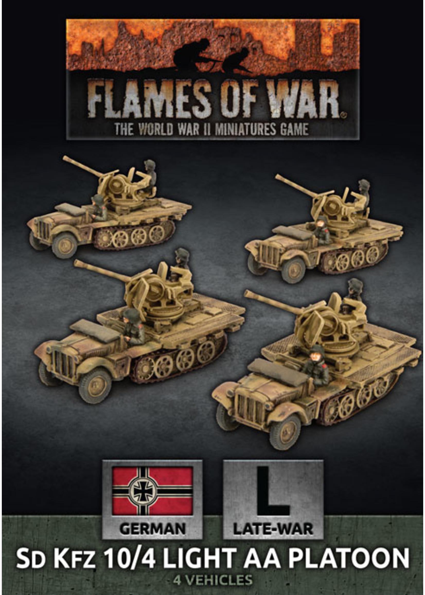 Flames of War: SD KFZ 10/4 Light AA Platoon