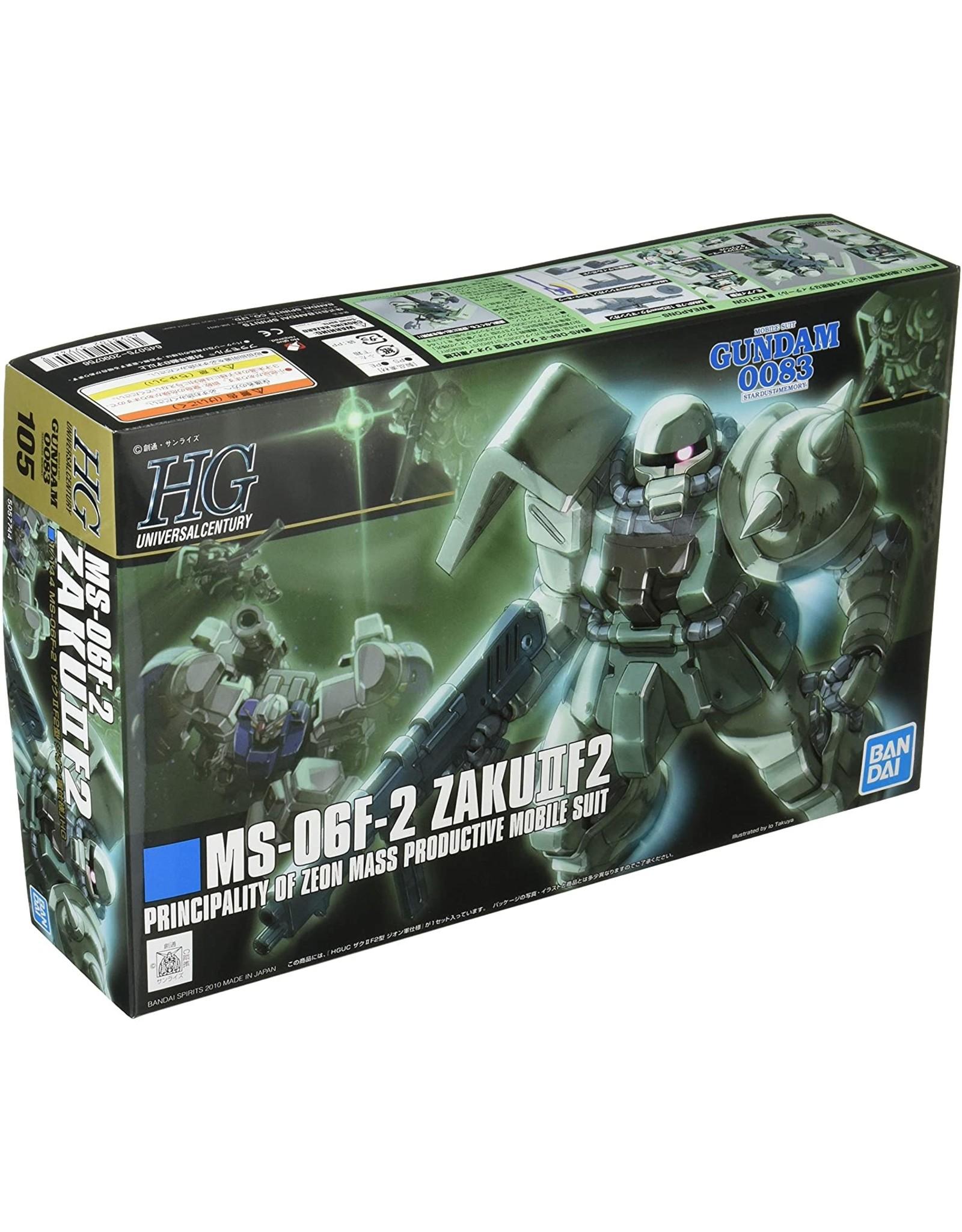 Gundam: #105 MS-06F-2 Zaku II F2 (Zeon Ver.) ''Gundam 0083'',Bandai