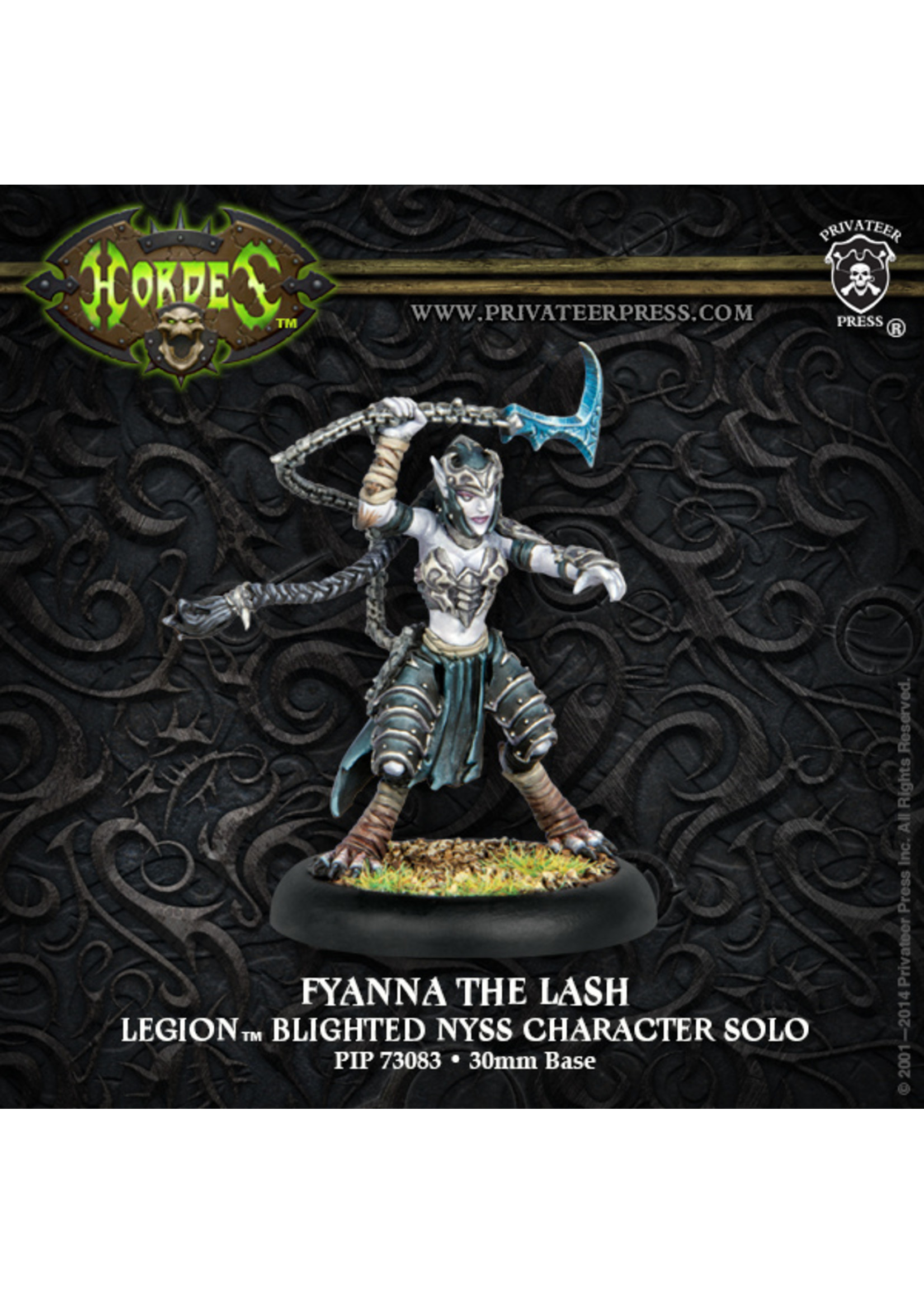 Hordes: Legion of Everblight Fyanna the Lash Character Solo (White Metal)