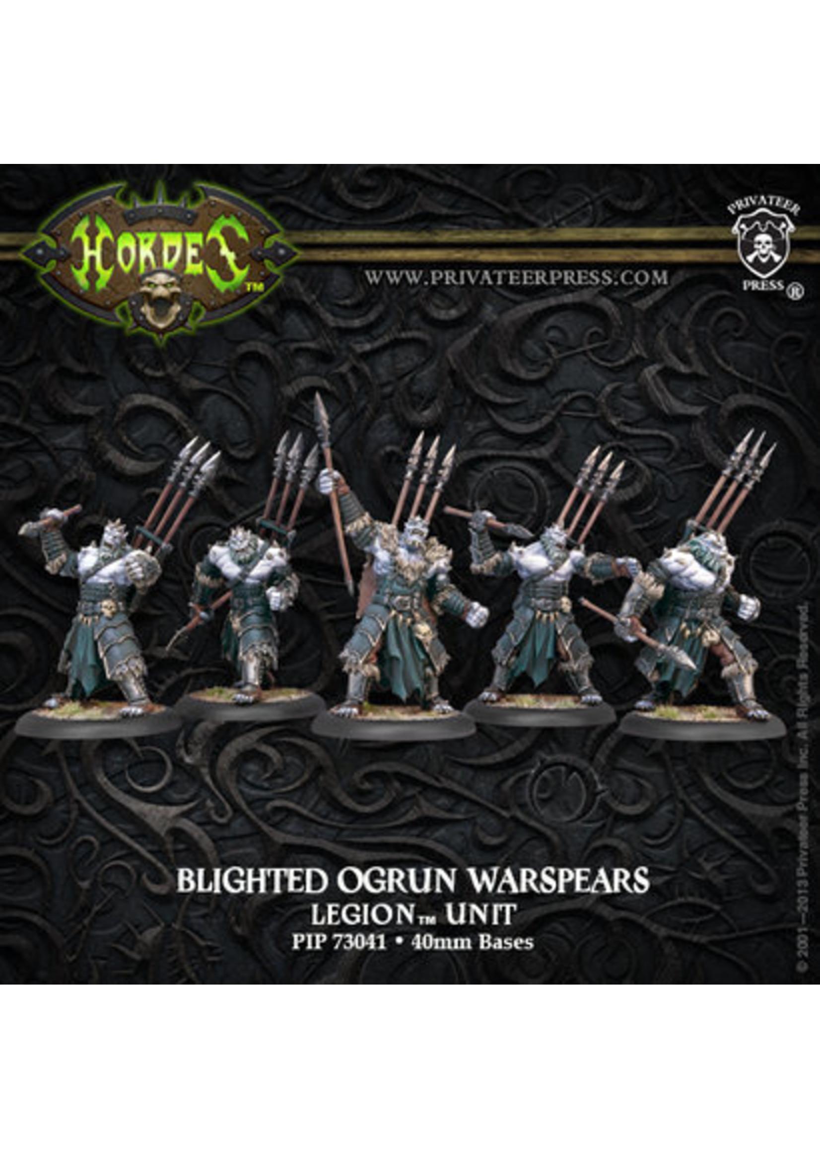 Hordes: Legion of Everblight Blighted Ogrun Warspears Unit (Plastic)