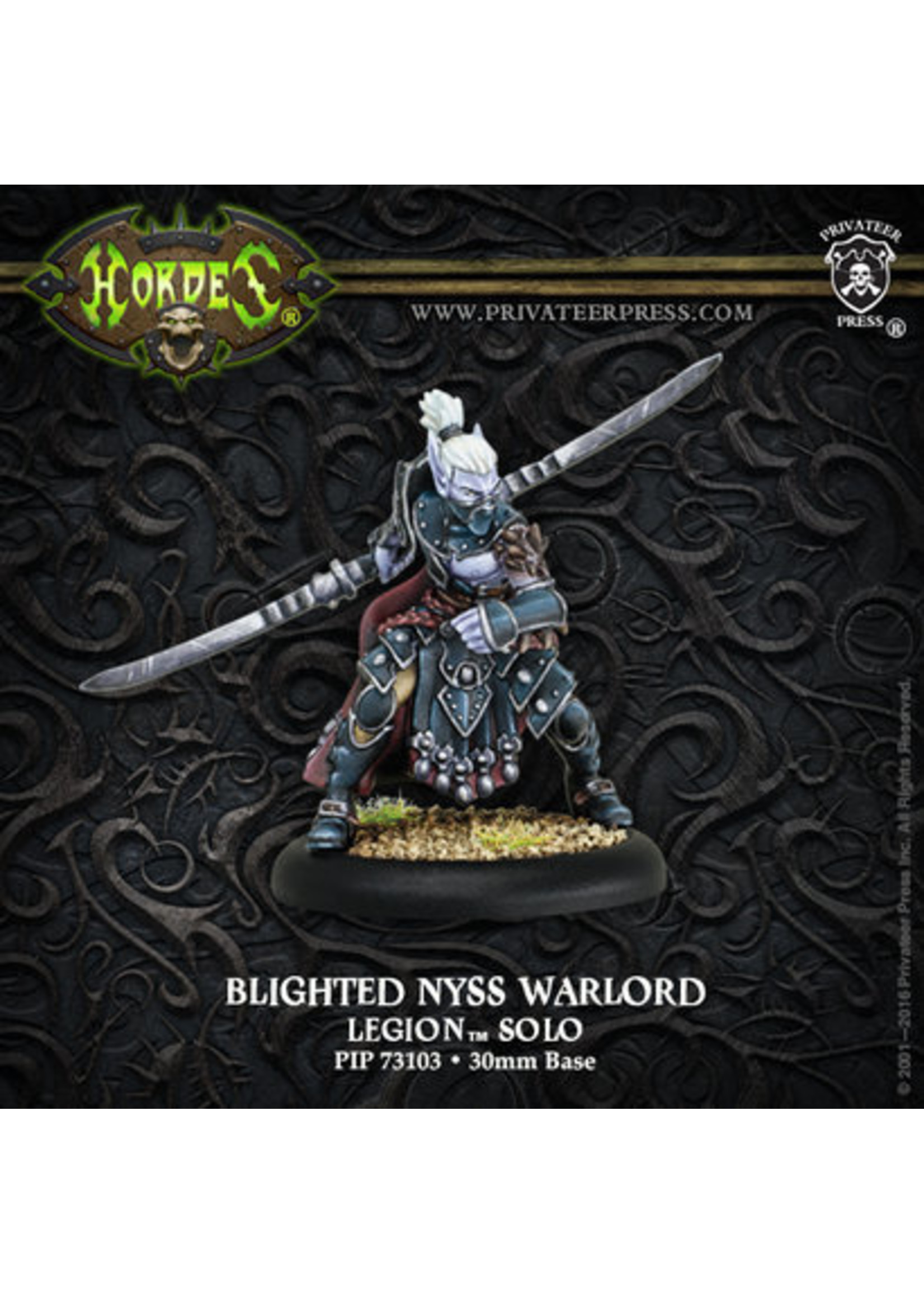 Hordes: Legion of Everblight Blighted Nyss Warlord Solo (White Metal)